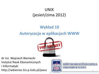 UNIX (jesie?/zima 2012)