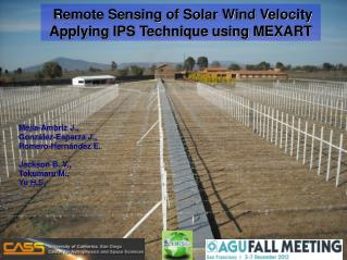 Remote Sensing of Solar Wind Velocity Applying IPS Technique using MEXART