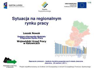 Sytuacja na regionalnym  rynku pracy