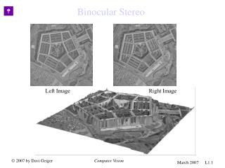 Binocular Stereo