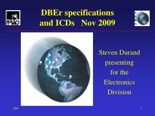 DBEr specifications and ICDs   Nov 2009