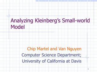 Analyzing Kleinberg's Small-world Model