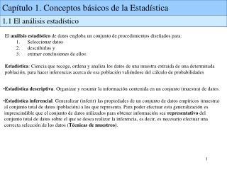 Capítulo 1. Conceptos básicos de la Estadística