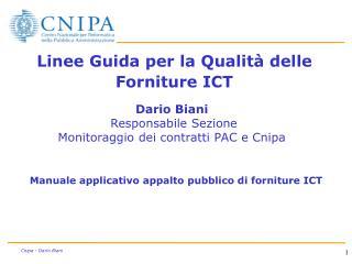 Linee Guida per la Qualità delle Forniture ICT