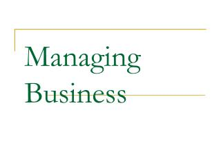 Managing Business