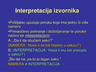 Interpretacija izvornika
