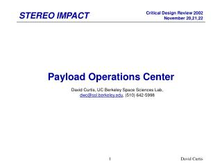 Payload Operations Center