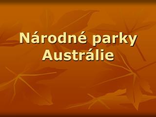 Národné parky Austrálie