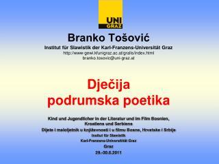Kind und Jugendlicher in der Literatur und im Film Bosnien, Kroatiens und Serbiens