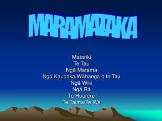 Matariki Te Tau Ng ā  Marama Ng ā  Kaupeka/W ā hanga o te Tau Ng ā  Wiki Ng ā  R ā Te Huarere