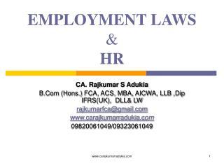 EMPLOYMENT LAWS &  HR