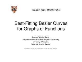 Best-Fitting Bezier Curves for Graphs of Functions