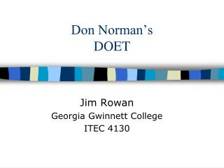 Don Norman�s DOET