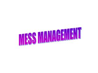 MESS MANAGEMENT