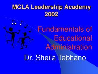 MCLA Leadership Academy 2002