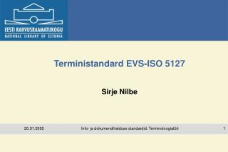 Terministandard EVS-ISO 5127