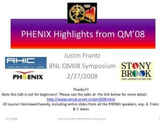 PHENIX Highlights from QM'08