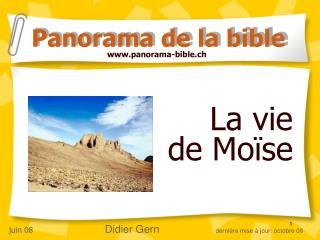 La vie  de Moïse