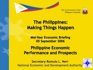 Philippine Economic Performance and Prospects