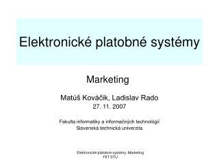Elektronické platobné systémy