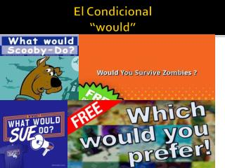 "El  Condicional ""would"""