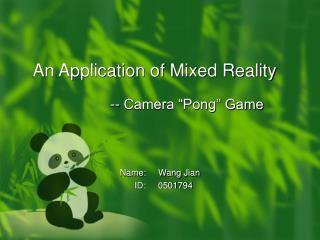 An Application of Mixed Reality