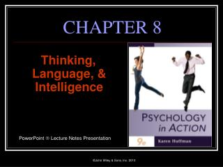 Thinking, Language,  Intelligence     PowerPoint  Lecture Notes Presentation