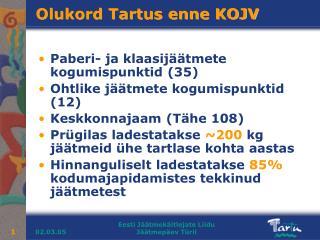 Olukord Tartus enne KOJV