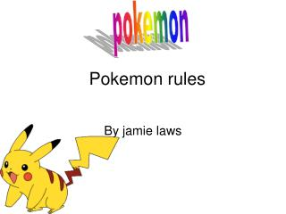 Pokemon rules