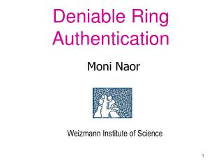 Deniable Ring Authentication