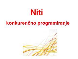 Niti konkurenčno programiranje