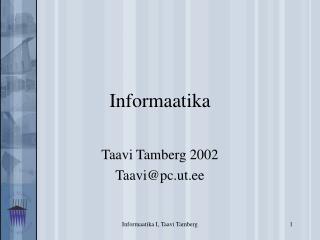 Informaatika