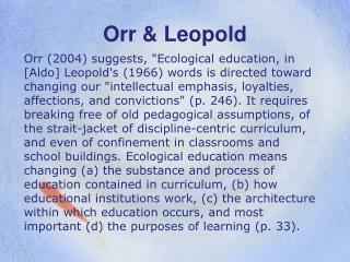 Orr & Leopold