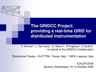 The GRIDCC Project: providing a real-time GRID for distributed instrumentation