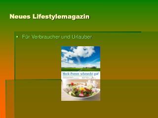 Neues Lifestylemagazin