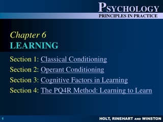 Chapter 4:  Classical Conditioning continued
