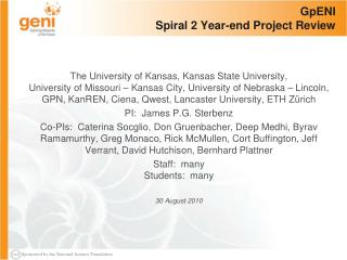 GpENI Spiral 2 Year-end Project Review