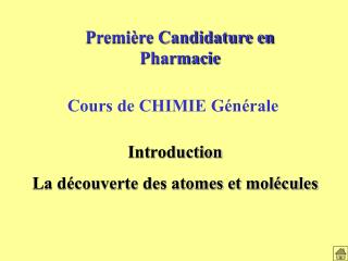Premi re Candidature en Pharmacie