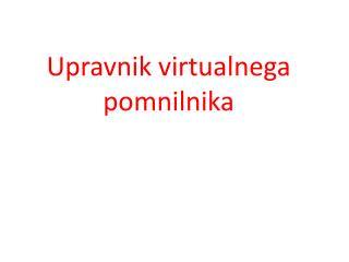 Upravnik virtualnega pomnilnika
