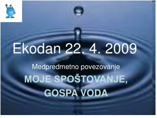 Ekodan 22. 4. 2009