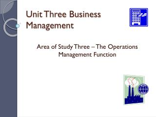 Unit Three Business Management