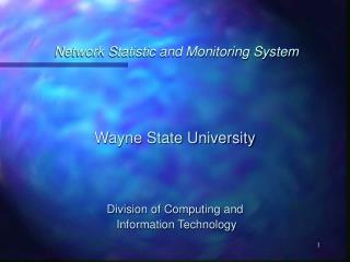 Network Statistic and Monitoring System