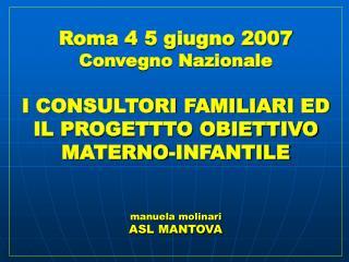 Il progetto obiettivo  materno-infantile D.M. 24-4-2000