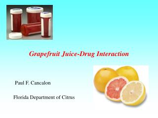 Grapefruit Juice-Drug Interaction