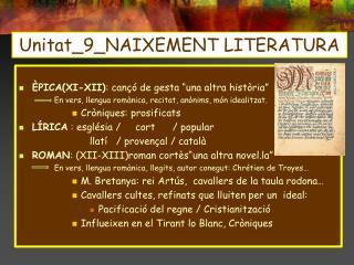 Unitat_9_NAIXEMENT LITERATURA