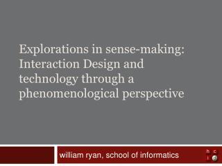 william ryan, school of informatics