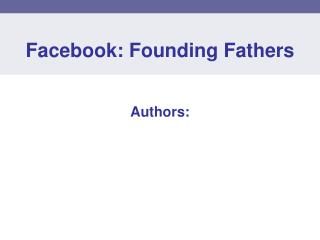 Facebook: Founding Fathers