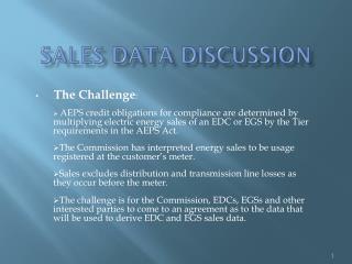 Sales data discussion