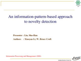 An information-pattern-based approach to novelty detection