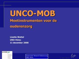 UNCO-MOB Meetinstrumenten voor de ouderenzorg